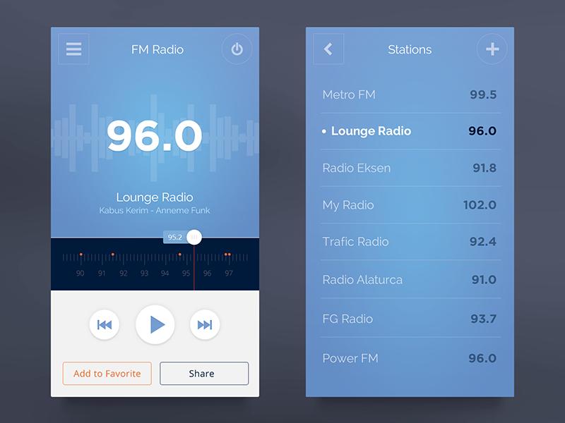 FM Radio UI   UI   App ui design, Mobile app design, Mobile