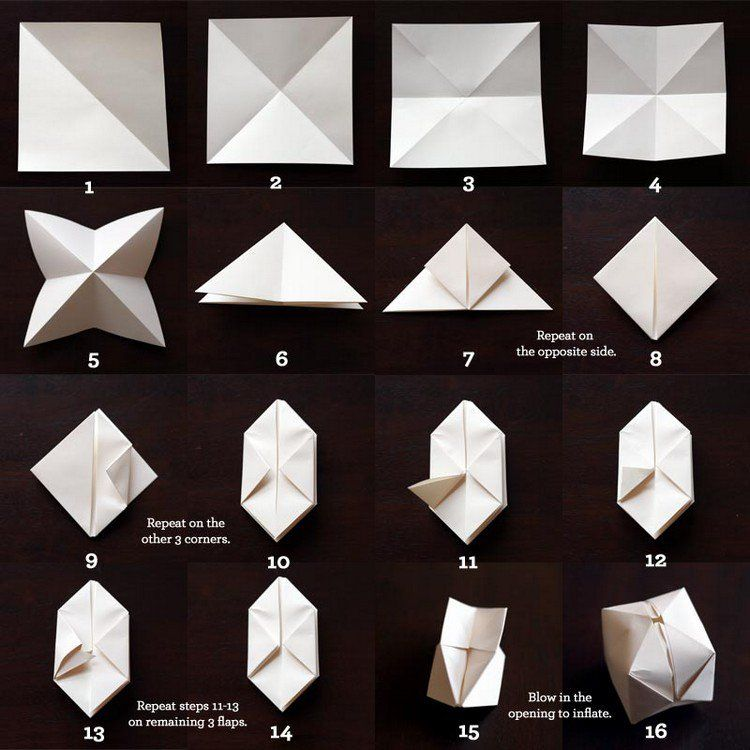 origami de nol 6 ides avec des instructions de pliage - Decoration De Noel En Papier