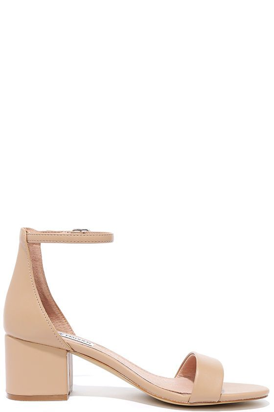 bbb30c8980 Steve Madden Irenee Blush Leather Ankle Strap Heels | Style Ideas ...