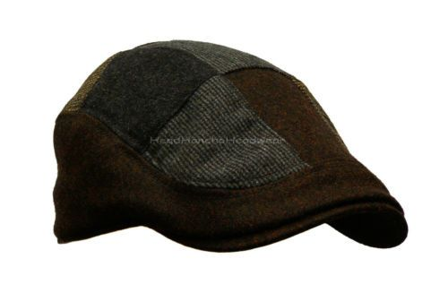 1188ac4c707dc Stetson Wool Tweed Patchwork Ivy Cap Gatsby Men Newsboy Hat Golf Driving  Flat