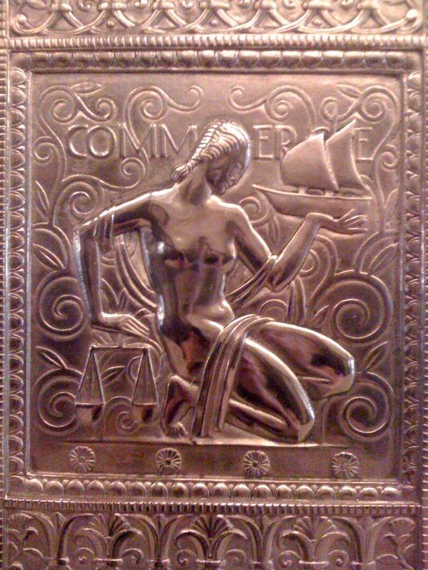 Deco elevator detail, 'commerce'. Fisher building, Detroit. PURE DETROIT