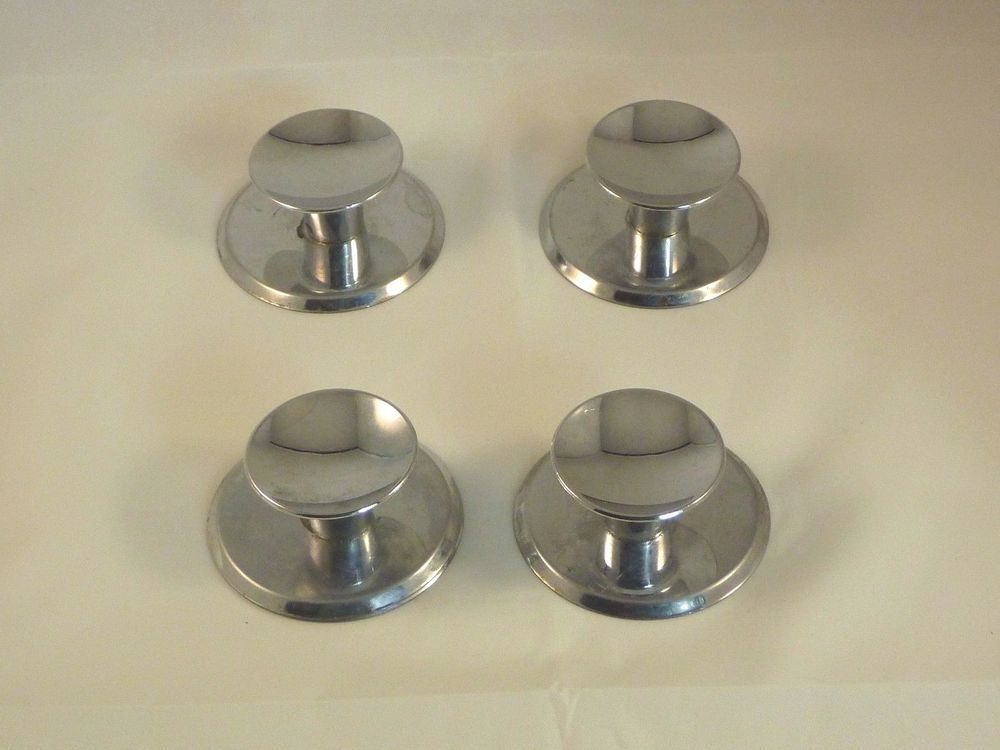 Cool 4 Vtg Mid Century Concave Chrome Cabinet Hardware Drawer Interior Design Ideas Inamawefileorg