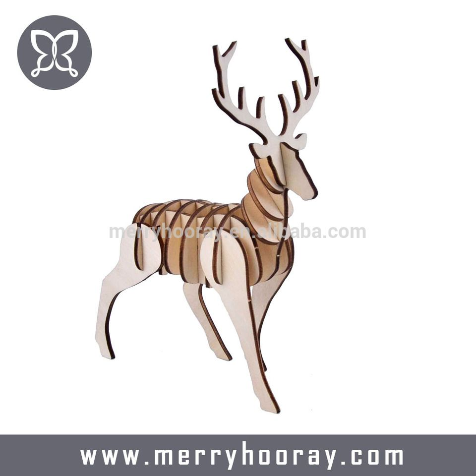 Creative Kids Diy Wooden Animal 3d Toy Puzzle Wooden Animals Diy For Kids Wooden Diy