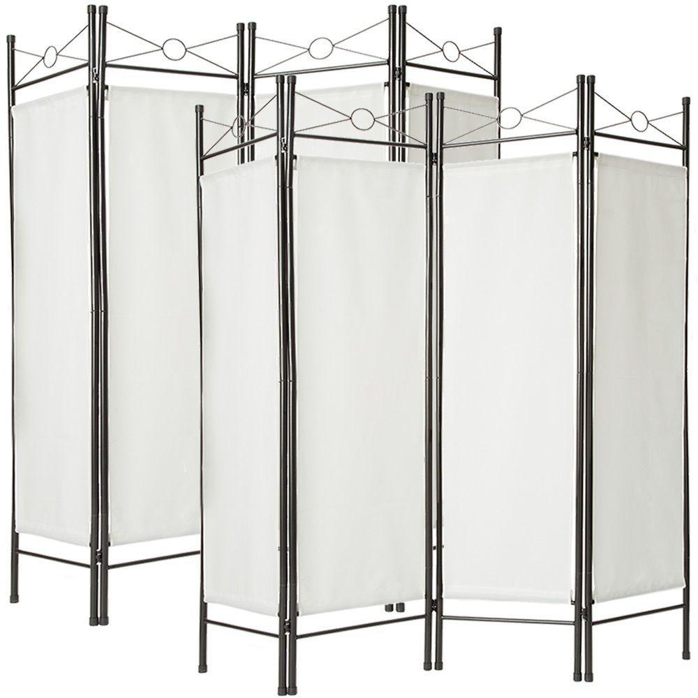 Raumteiler Weiss Umkleide Landhausstil Paravent Trennwand Sichtschutz