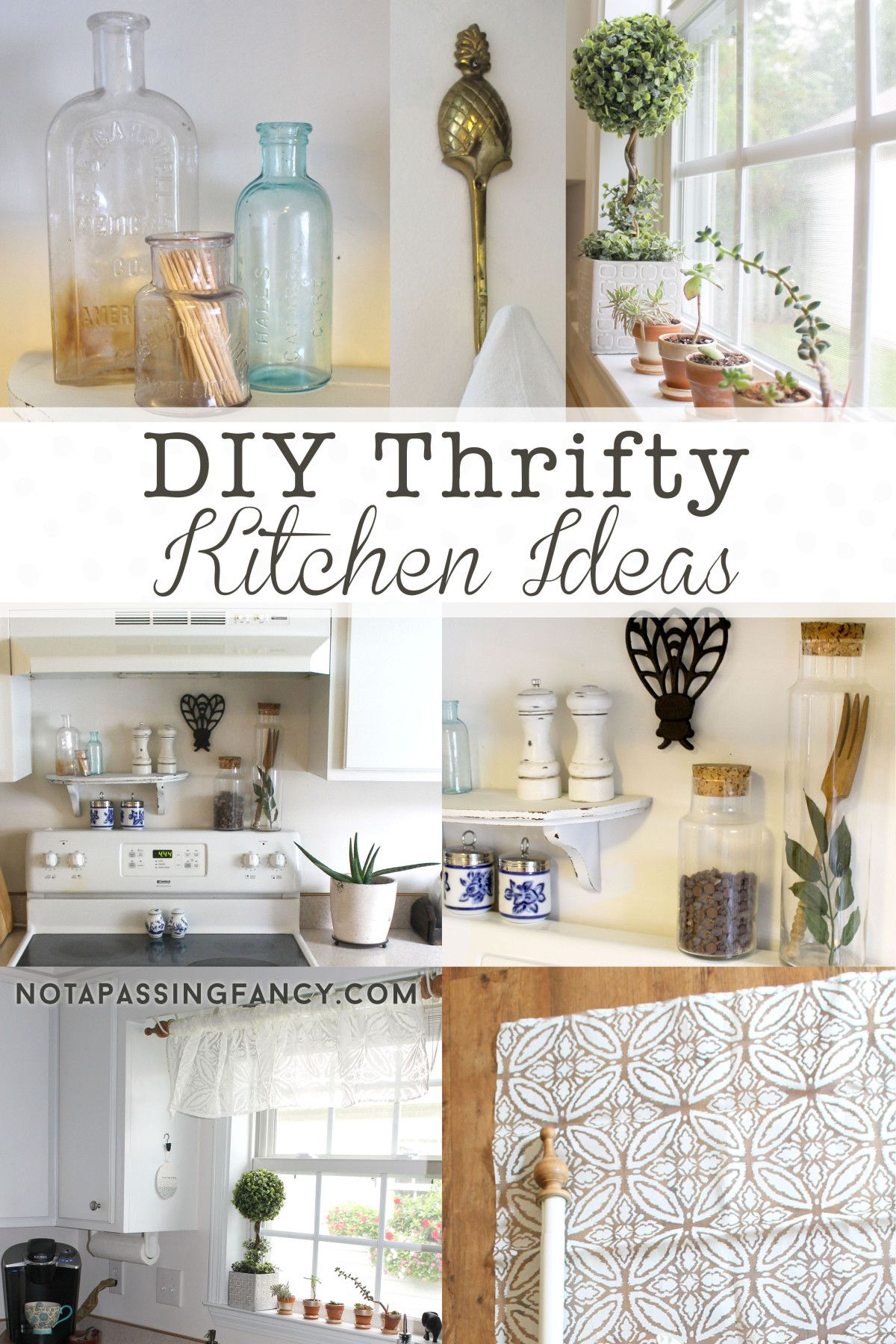 DIY Thrifty Kitchen Ideas - Our Rental Kitchen | Not a Passing Fancy ...