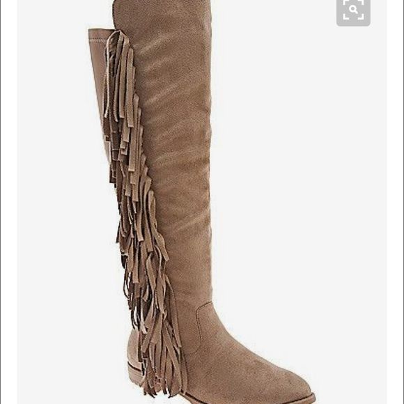 54b6f39e903 Wide Calf Fringe Boots Excellent condition (worn once) brown fringe boots.  Purchased from Lane Bryant! Lane Bryant Shoes Winter   Rain Boots