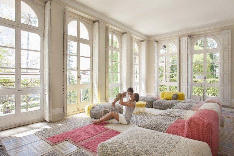 interpr tation moderne du salon oriental et des. Black Bedroom Furniture Sets. Home Design Ideas
