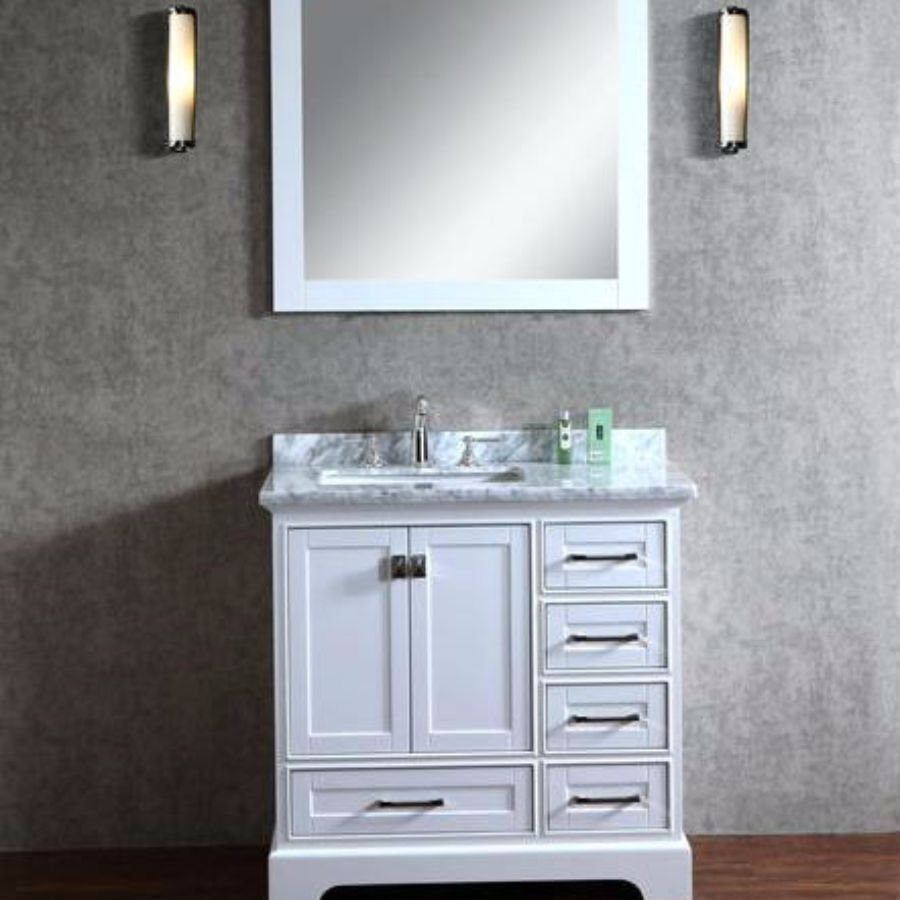 white single bathroom vanity. Stufurhome 36\ White Single Bathroom Vanity