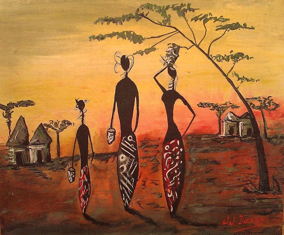 Африканские рисунки картинки
