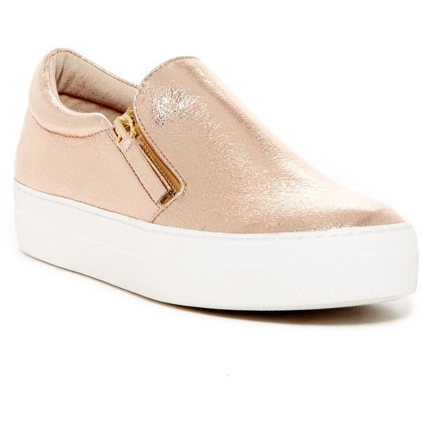 Steve Madden Glaammar Zip Sneaker ($50) ❤ liked on Polyvore featuring shoes,  sneakers