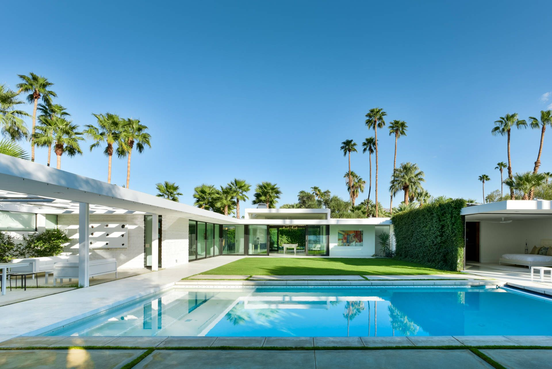 Mid Century Modern Palm Springs Pool Palm Springs Architecture Palm Springs Villas Modern Pools