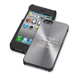 Personalized Gunmetal iPhone 5 Case , Add Your Message