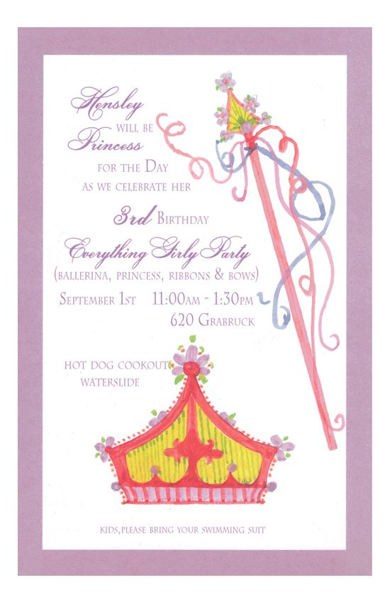 Do You Feel That Your Daughter Is The High And Mighty Princess Of Household Then Be Sure To Order Some Online Birthday Invitations Accurately