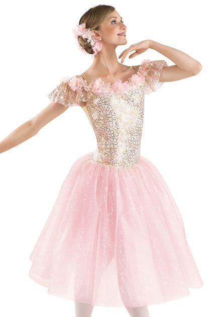 d7f40839553d Flower Trimmed Long Ballet Dress  Weissman Costume for the waltz ...