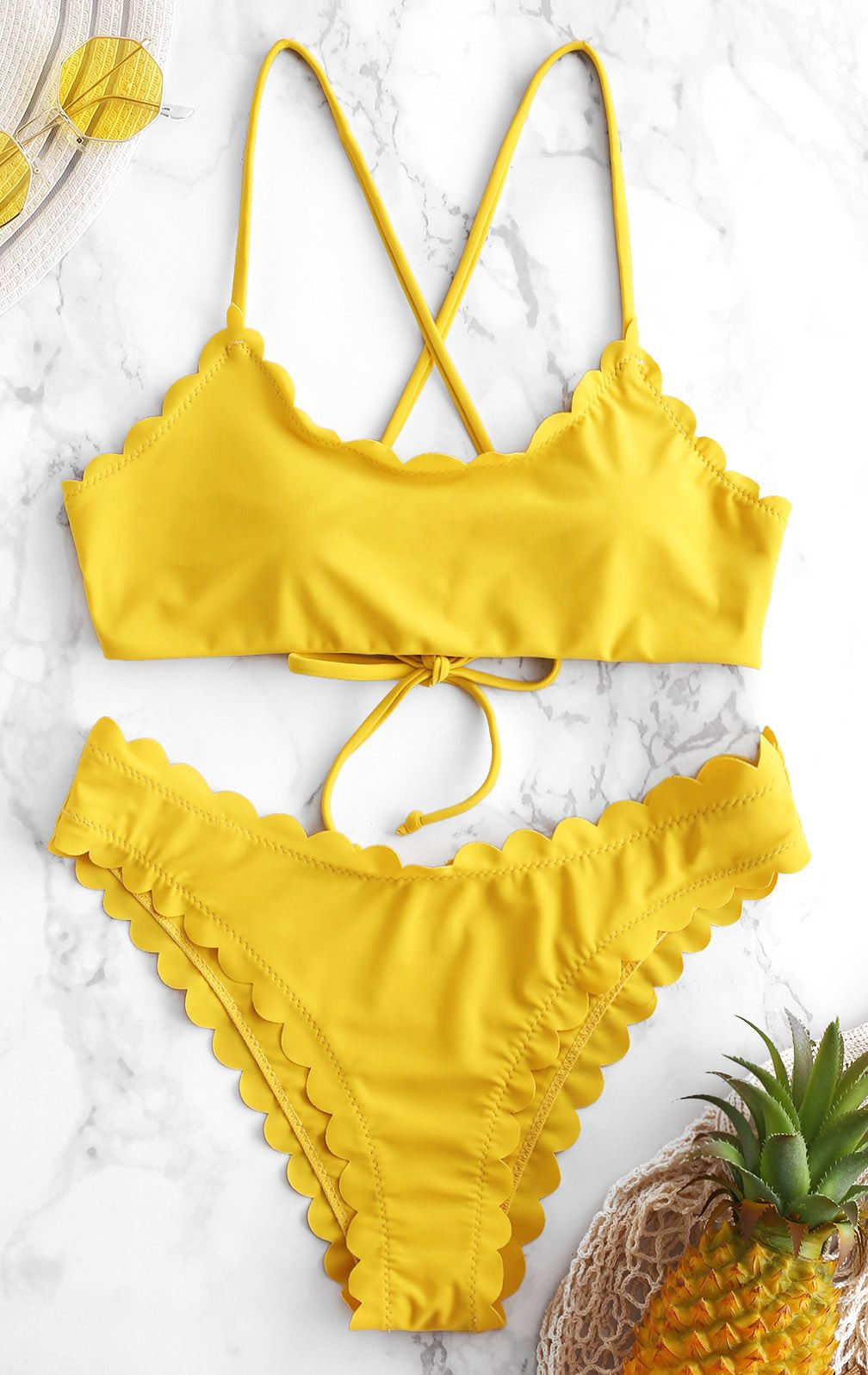 d3731489e6 Give your vacation-ready wardrobe a colorful twist with this bikini set.  The bralette