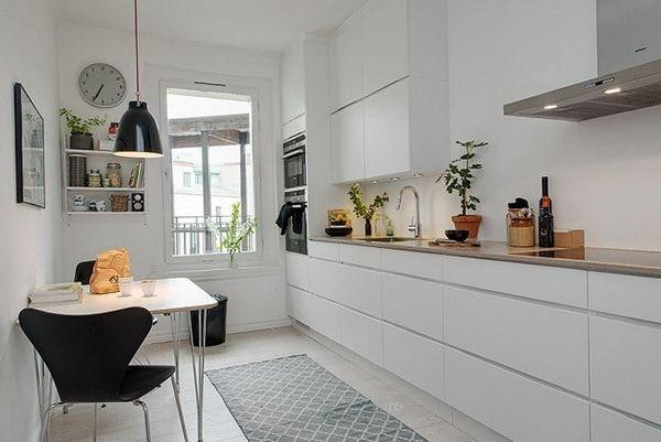 Cocina comedor en blanco y negro cocina - Comedor blanco y negro ...