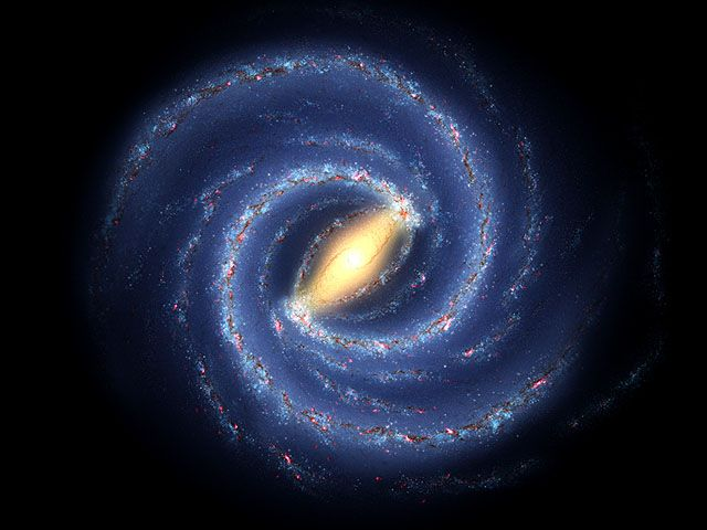 The Milky Way galaxy is a disk about 120,000 light years across.  That is huge!  For perspective, if the Milky Way was as large as the continental United States, our entire solar system would be as big as the period at the end of this sentence.