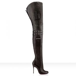 christian louboutin thigh high boots with pockets