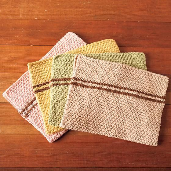 Dish Towel Set Knitting Patterns And Crochet Patterns From