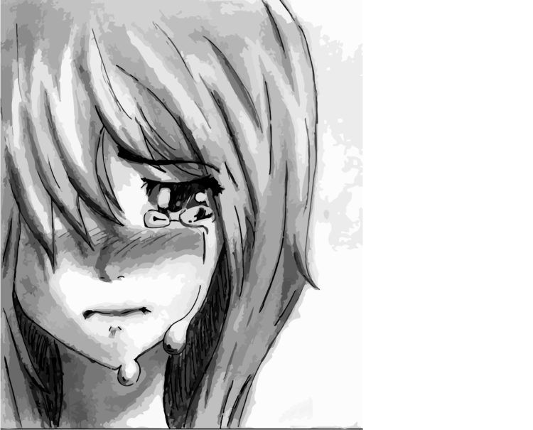 Sad Anime Girl Crying Pictures -Depressed Anime Girl  Drawing Wallpapers