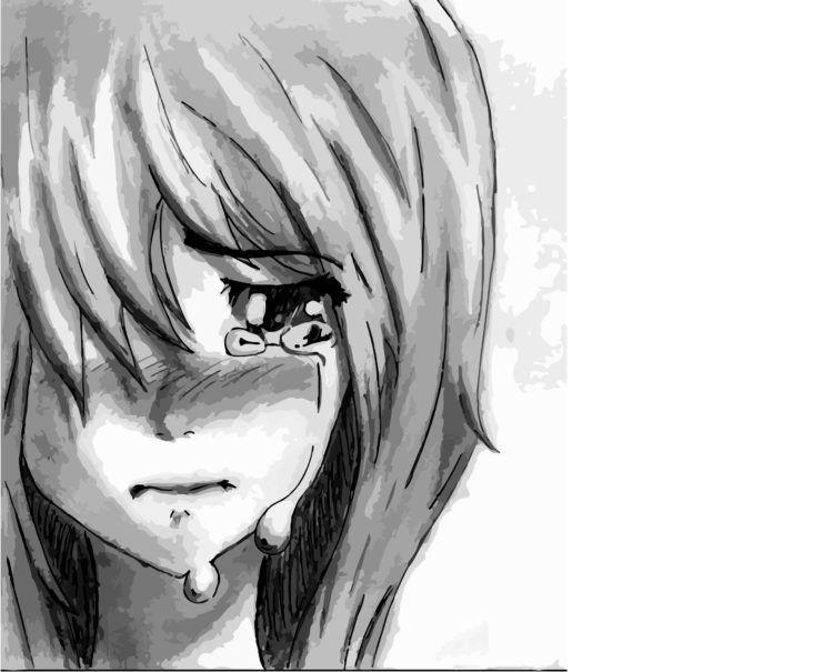 Sad Anime Girl Crying Pictures -Depressed Anime Girl ...