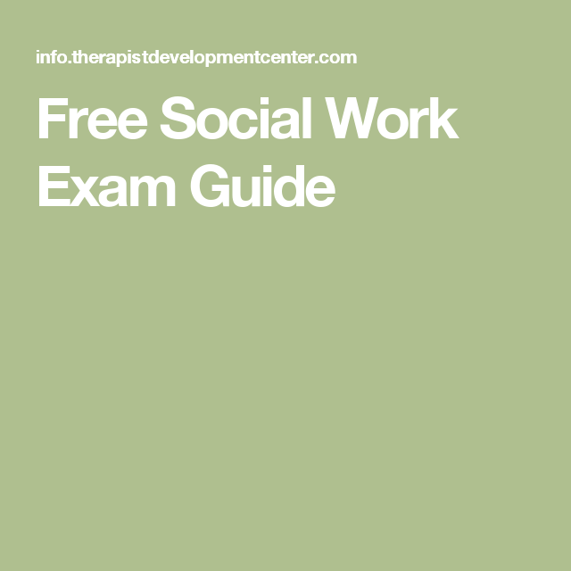 Free Social Work Exam Guide