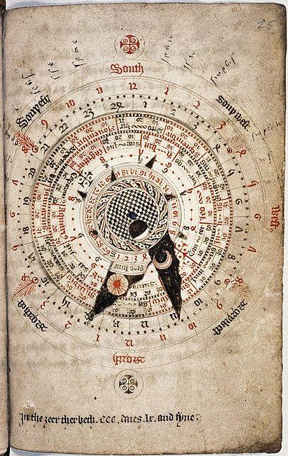 Astronomical calendar, by Nicholas of Lynn, ca. 1324 / Sacred Geometry <3