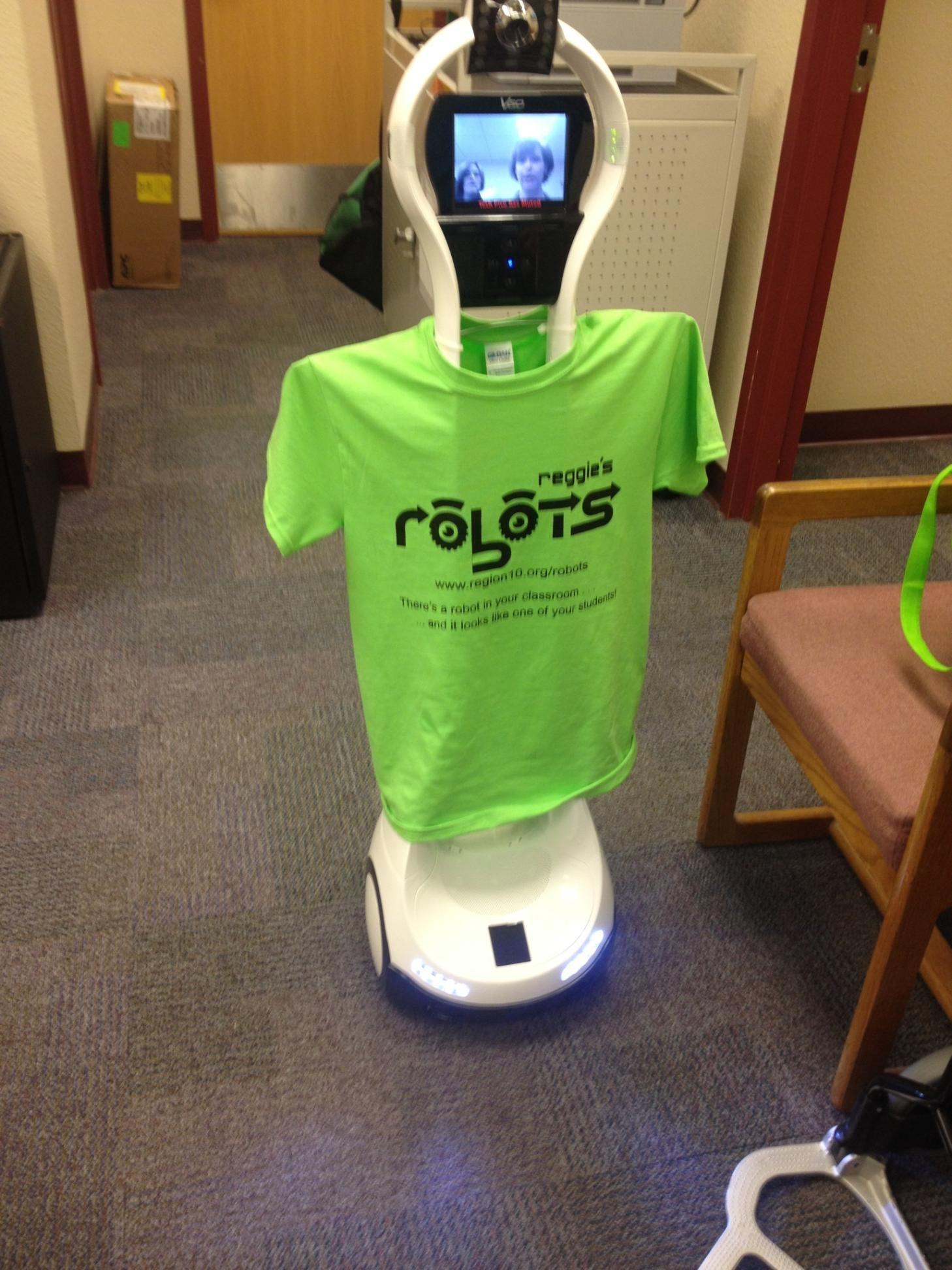 FirstClass Technology The VGo Robot helps patients at