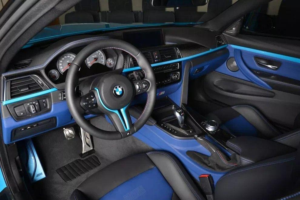 Bmw Black And Blue Interior Custom Blue Bmw Blue Bmw Interior