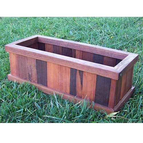 Large Redwood Planter Box For Tomatoes: Redwood Planter Box For Herb Garden