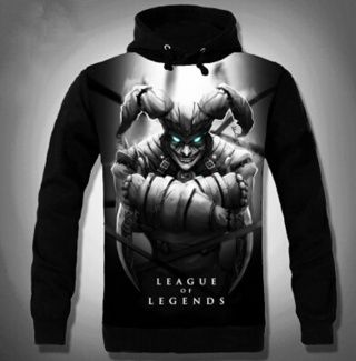 6cecfdc7dae0 3D DPS hero Shaco hoodie LOL League of Legends hooded sweatshirts ...