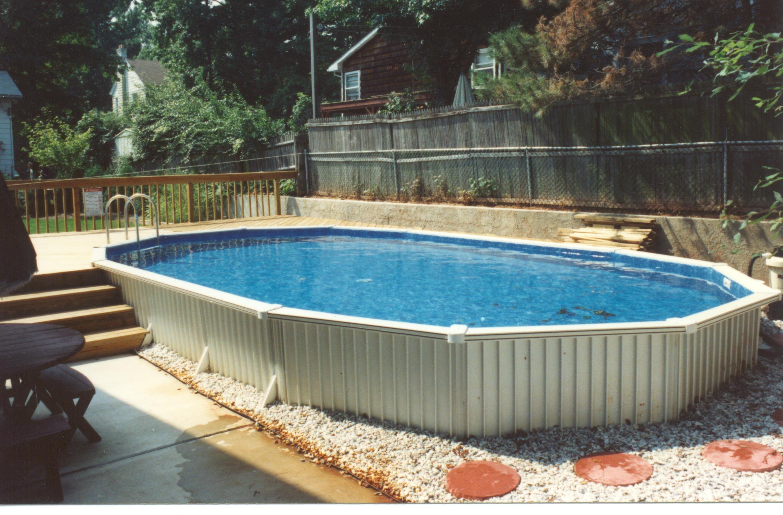 Semi Inground Pool Cost Faq S Reviews Advice Pictures Inground Pool Cost Building A Deck Pool Cost