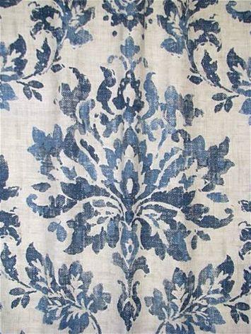 Vanessa 51 Denim Fabric Decor Blue And White Fabric Fabric
