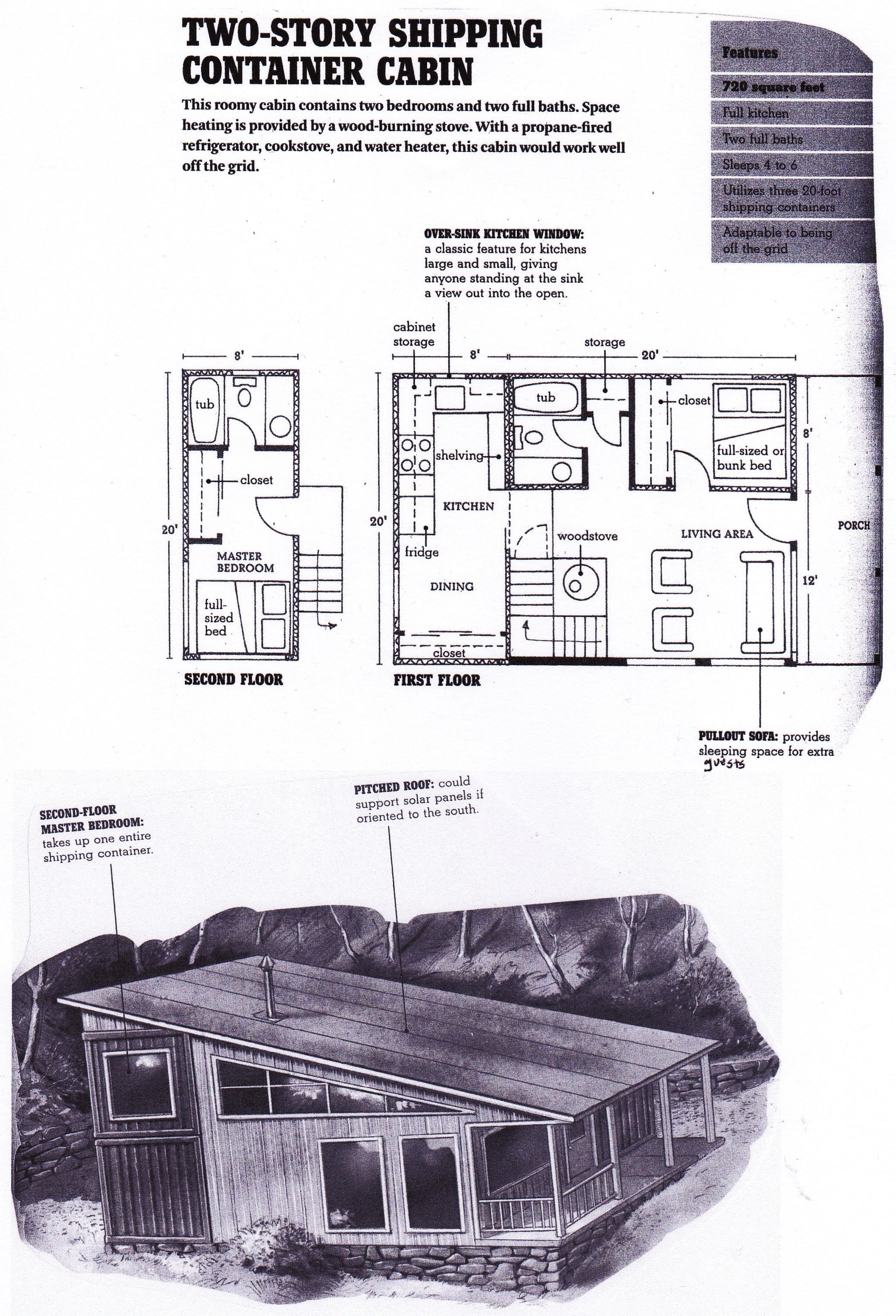 Shipping Container Floorplan From Compact Cabins Simple Living