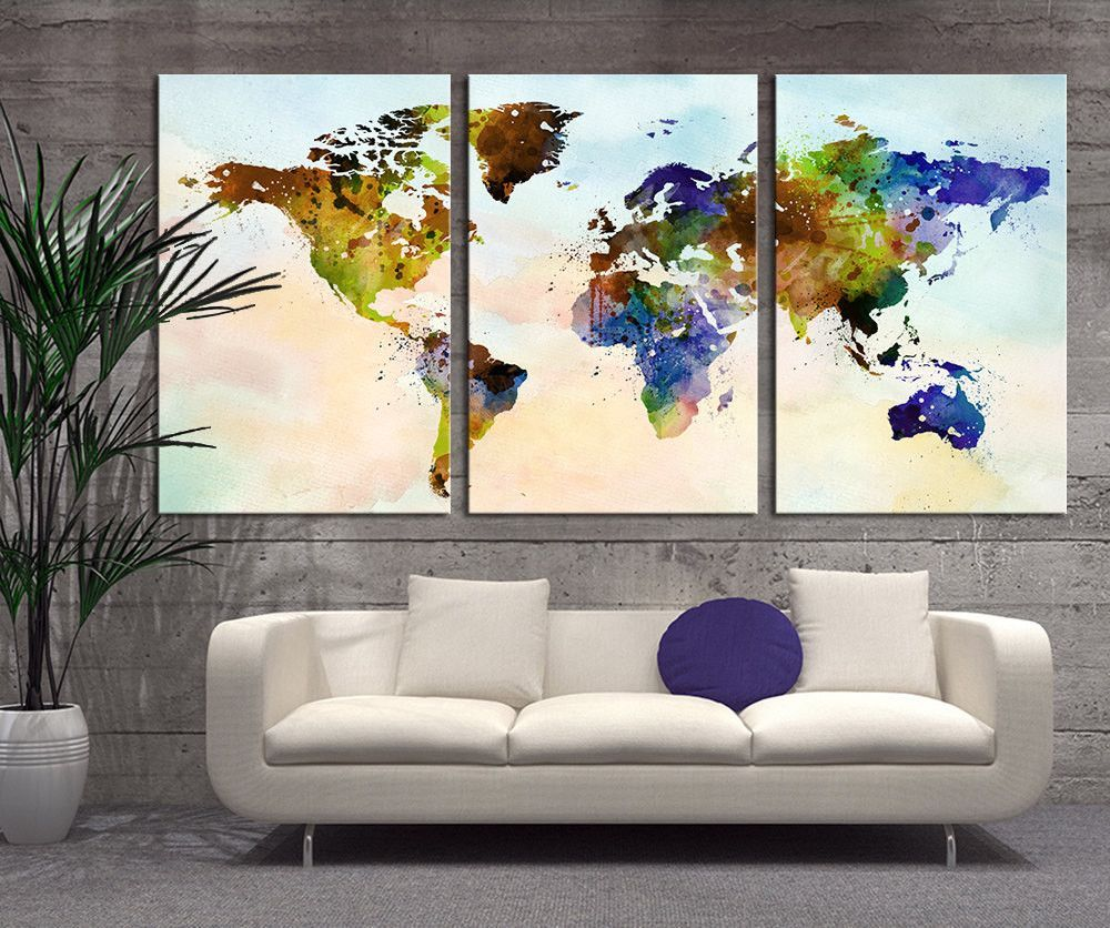 Art canvas art world map print map art print world map print art canvas art world map print map art print world map print canvas gumiabroncs Gallery