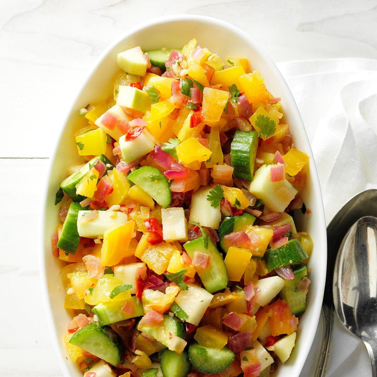 Kohlrabi Cucumber And Tomato Salad