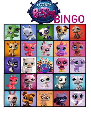 FREE Littlest Pet Shop Birthday Party Bingo Game Printables