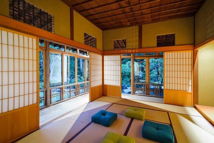 Japanische häuser raumgestaltung minimalistische einrichtung