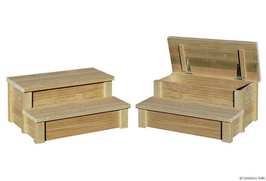 Spa Pool Steps With Storage Box Lid Shop Stack Step Stool