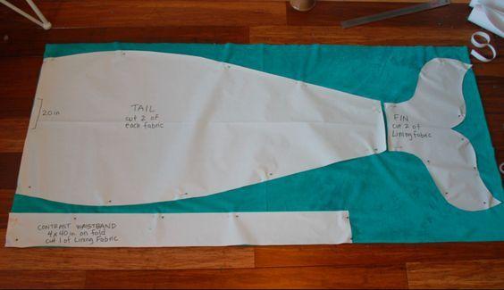 Learn to sew a Mermaid Tail Blanket. Free printable pattern plus ...