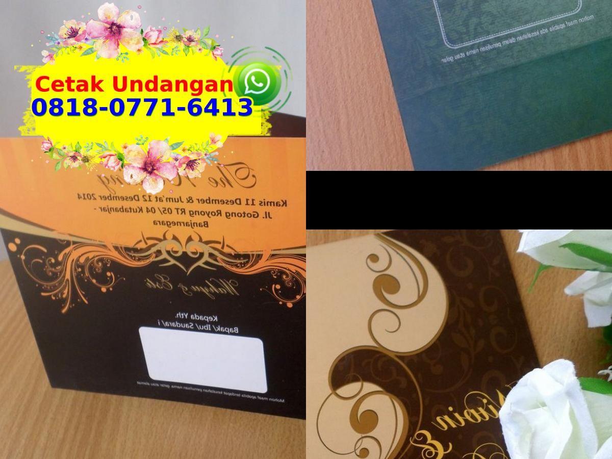 Cetak Undangan Pernikahan Di Garut 0818 0771 6413 Whatsapp Contoh Undangan Pernikahan Undangan Pernikahan Kartu Nama