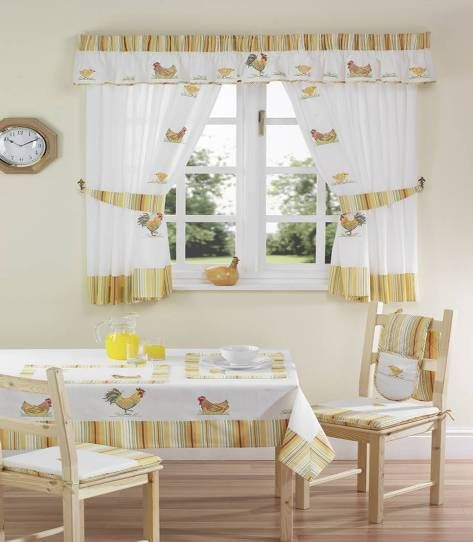 Kitchen Curtains White Rooster Style Curtain Designs Curtain Decor Kitchen Curtains