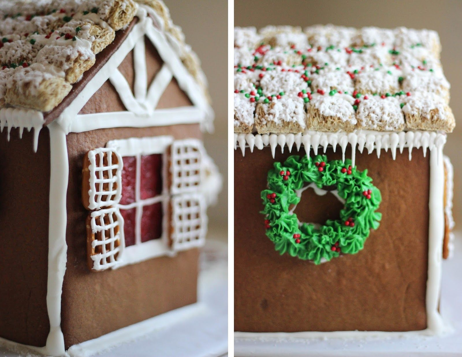 Gingerbread Houses Free Printable Pattern To Make Your