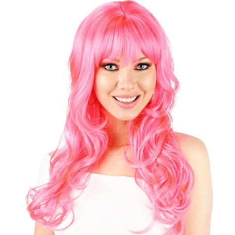 Natalie B Pink Premium Wig Party City Wig Party Wigs Dark Hair