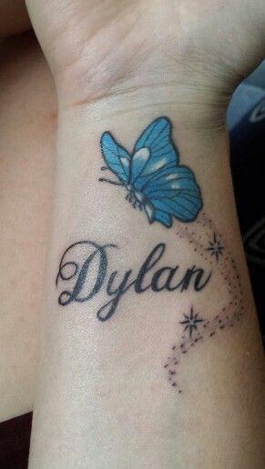 14990cce8ece3ba1ea1db32768ad7ef0 Jpg 291 516 Pixels Name Tattoos On Wrist Baby Name Tattoos Butterfly Wrist Tattoo