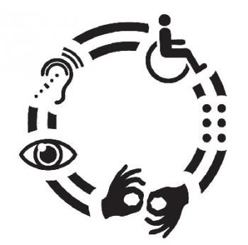 symbol for accessibility for all people with disabilities