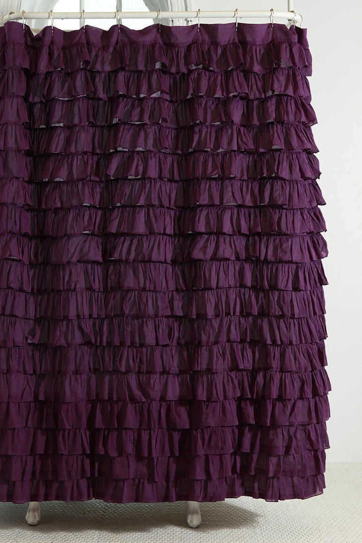Waterfall Ruffle Shower Curtain Ruffle Shower Curtains Urban Outfitters Curtains Purple Curtains