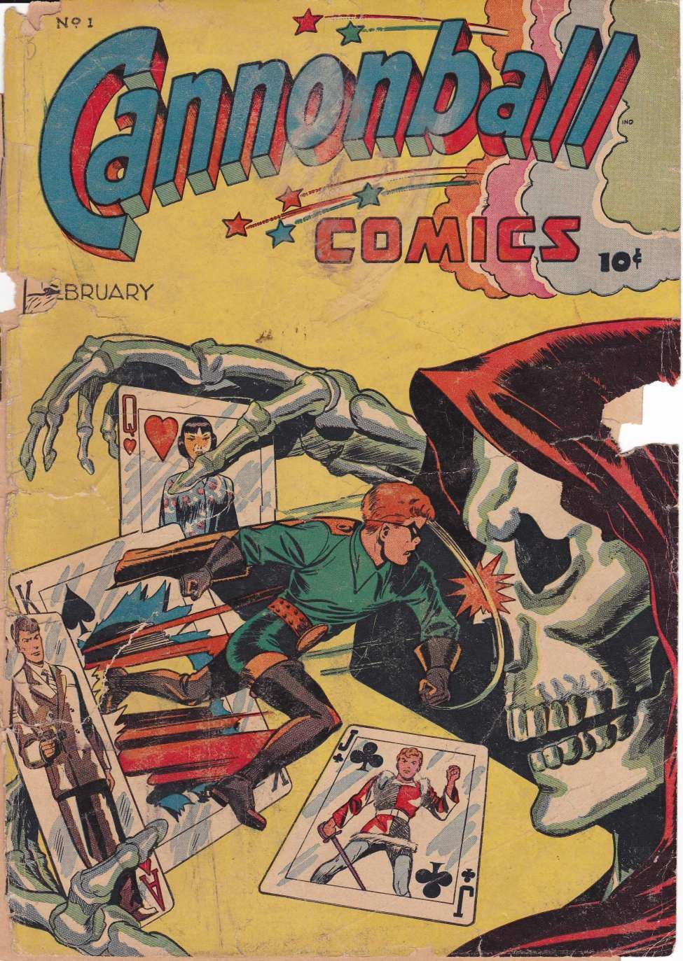 Comic Book Cover For Cannonball Comics #1