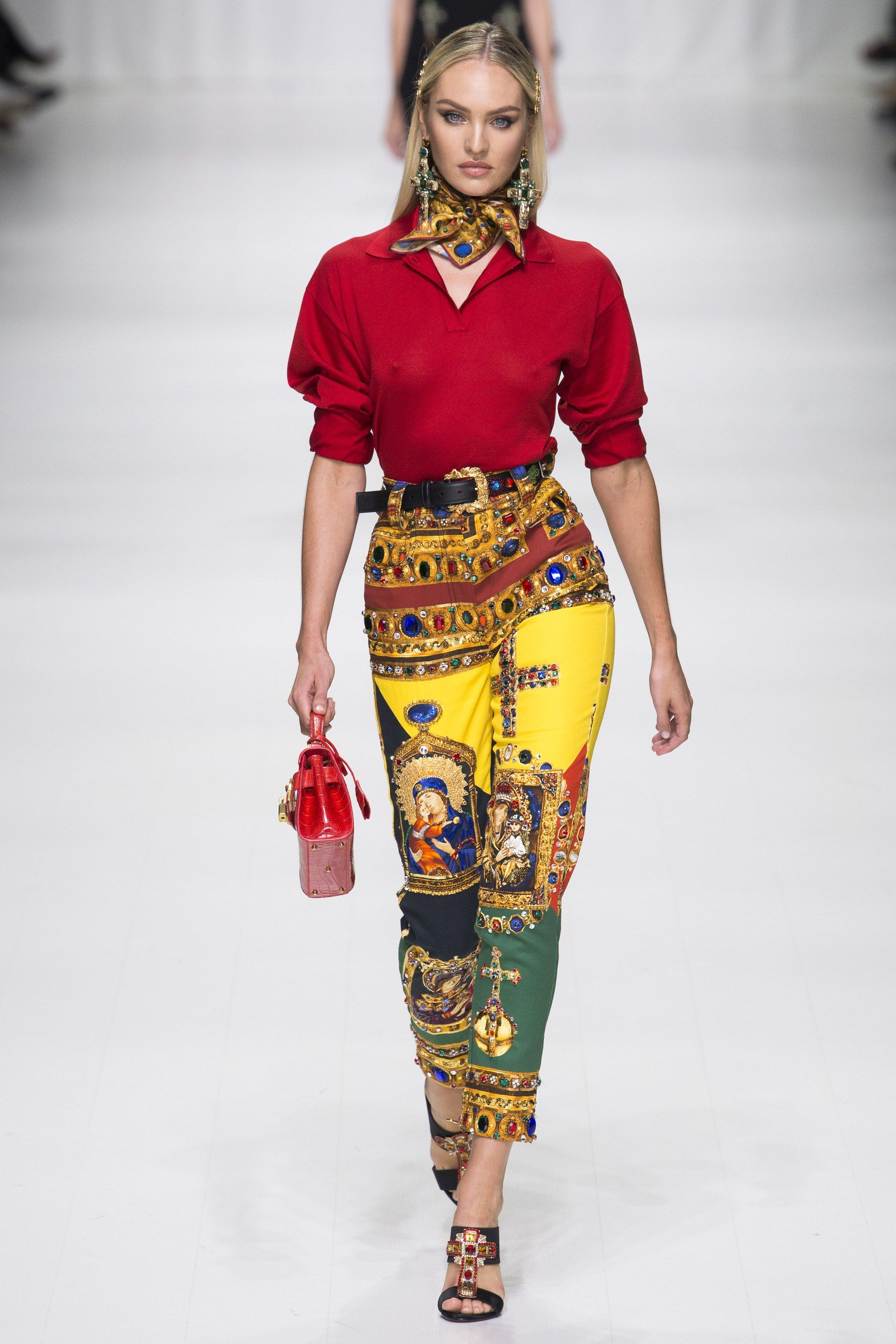Cotton Stretch Printed Pants Spring/summer Versace Free Shipping 2018 Inexpensive Online Buy Cheap Latest Collections New Lower Prices ofBS7Q9ltR