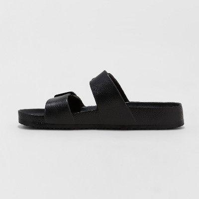 6546f4b379d Women s Neida Wide Width Eva Two Band Slide Sandals - Shade   Shore Black  10W